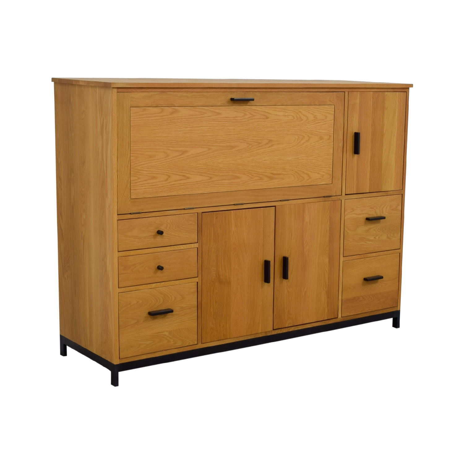 60% OFF - Room & Board Room & Board Maple Office Armoire ...
