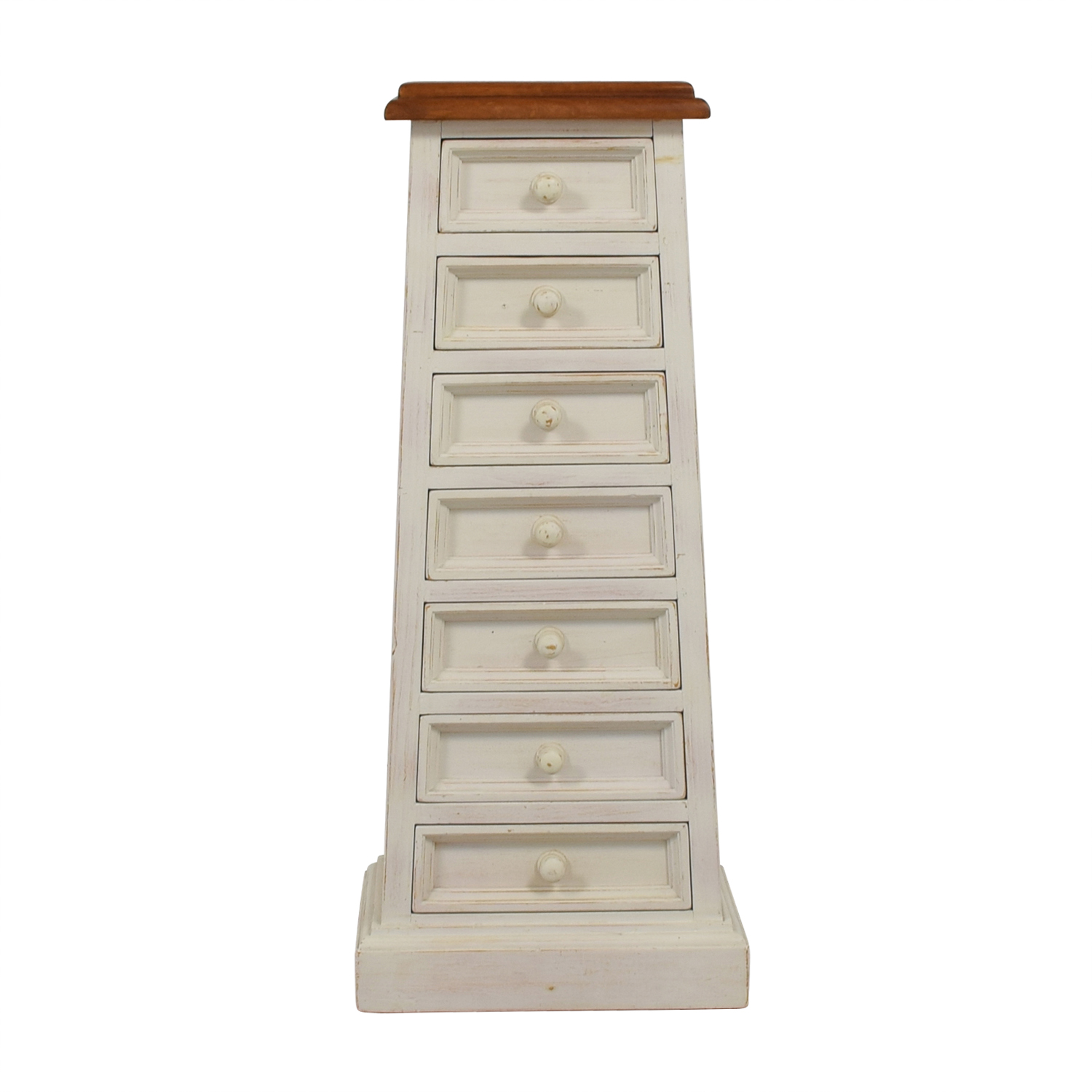 Shabby Chic Tall Narrow Dresser Storage