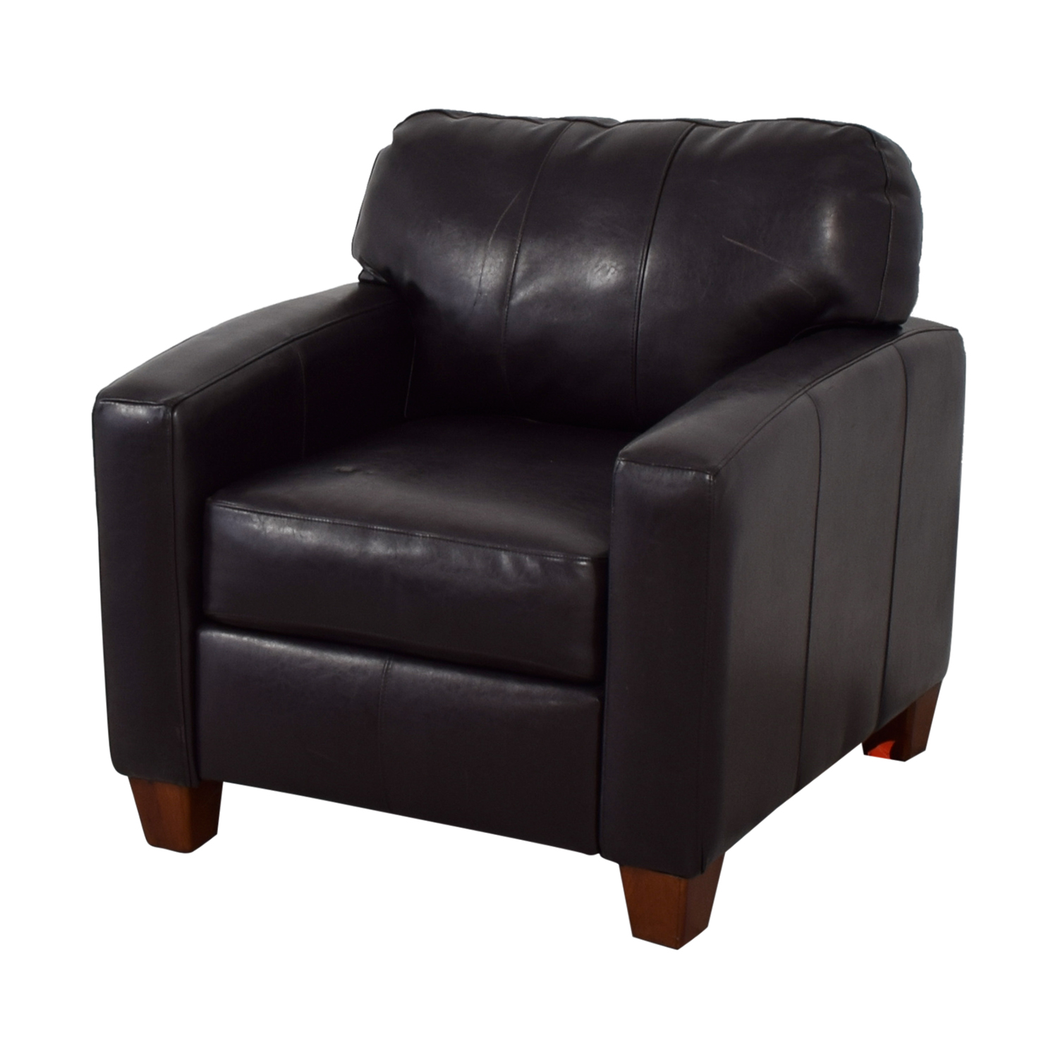Pottery Barn Brown Leather Accent Chair Chairs