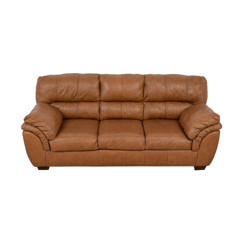Ashley Furniture Ashley Furniture Bladen Cognac Leather Three-Cushion Sofa nyc