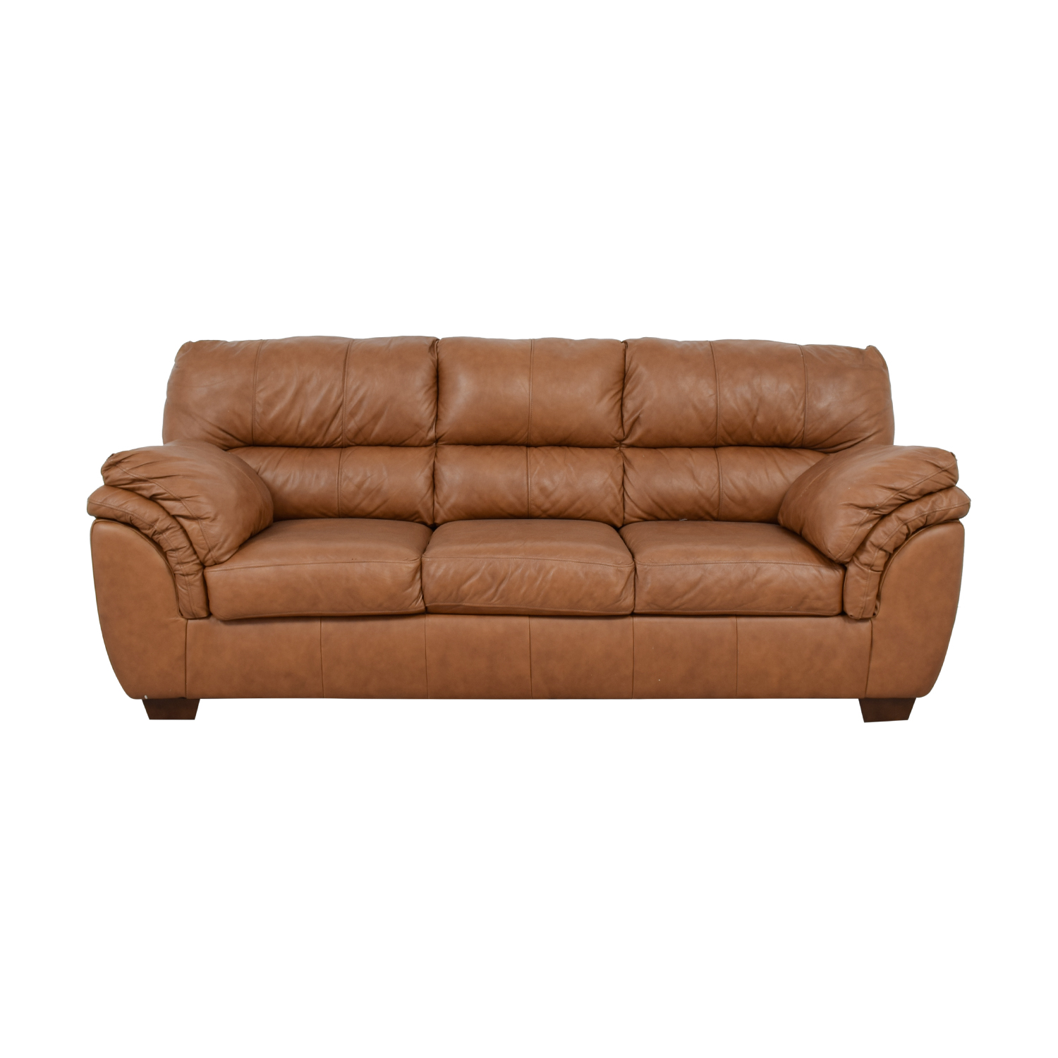 buy Ashley Furniture Bladen Cognac Leather Three-Cushion Sofa Ashley Furniture Classic Sofas