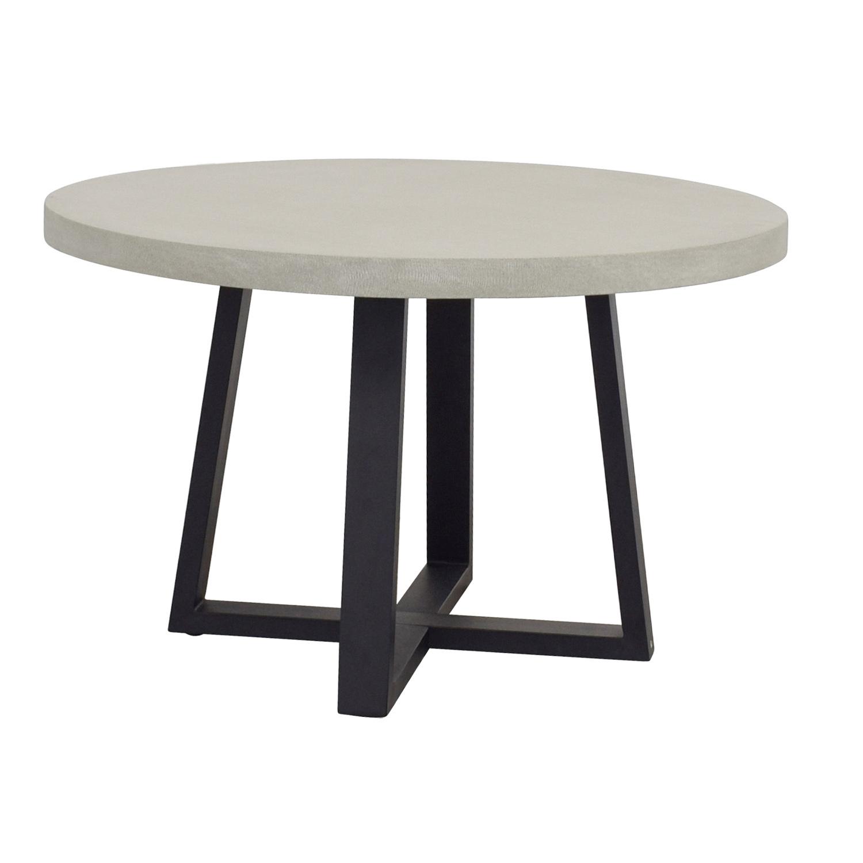 69 off west elm west elm slab round dining table tables. Black Bedroom Furniture Sets. Home Design Ideas