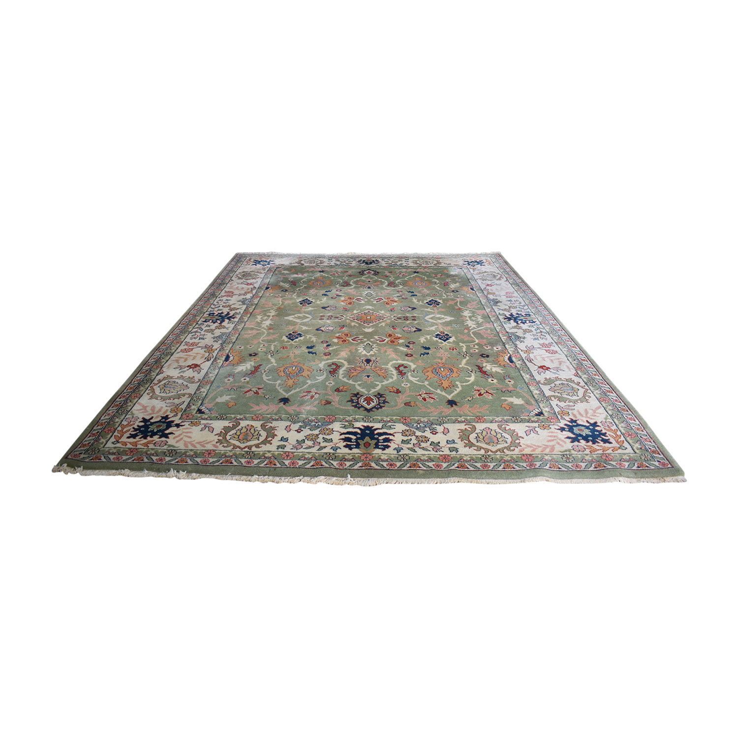 India Oriental Green Multi-Colored  Rug price
