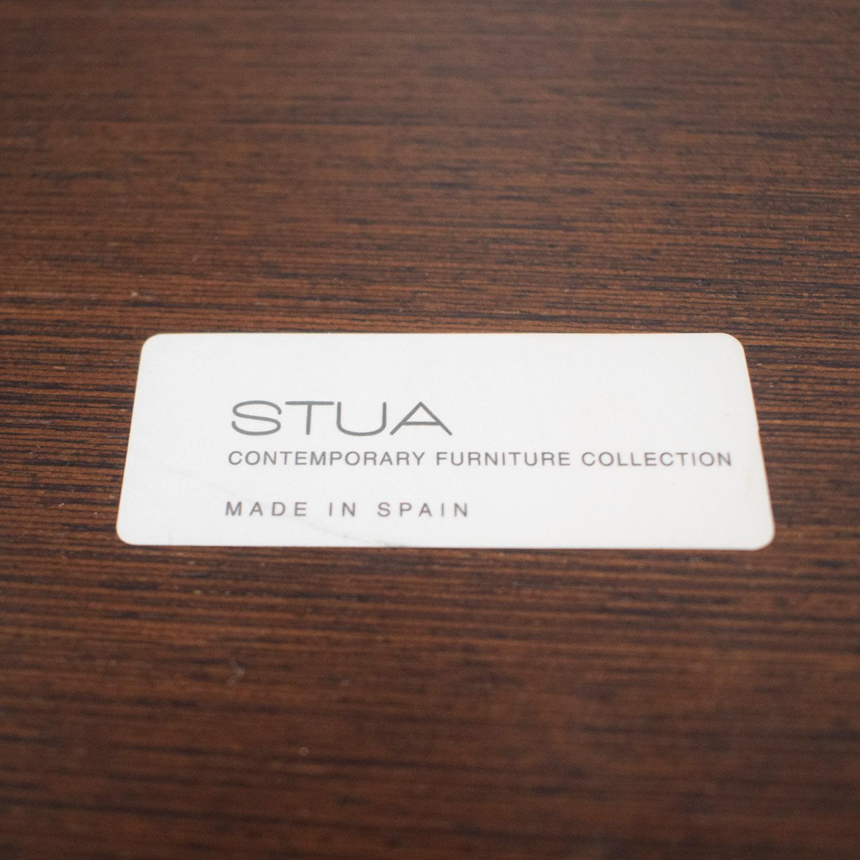 Stua Stua Zero Wood and Chrome Round Table Dinner Tables