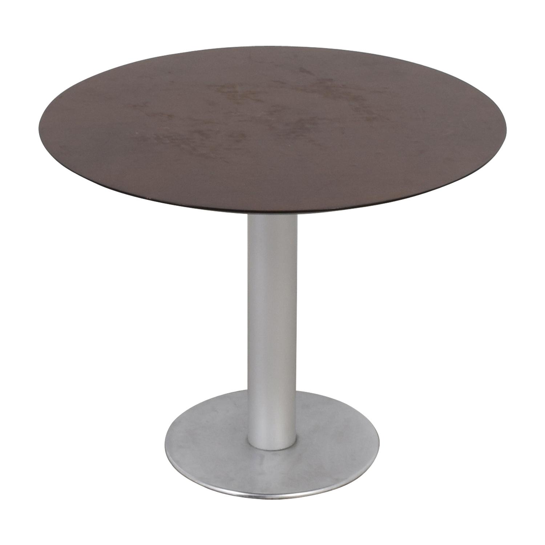 shop Stua Zero Wood and Chrome Round Table Stua Dinner Tables