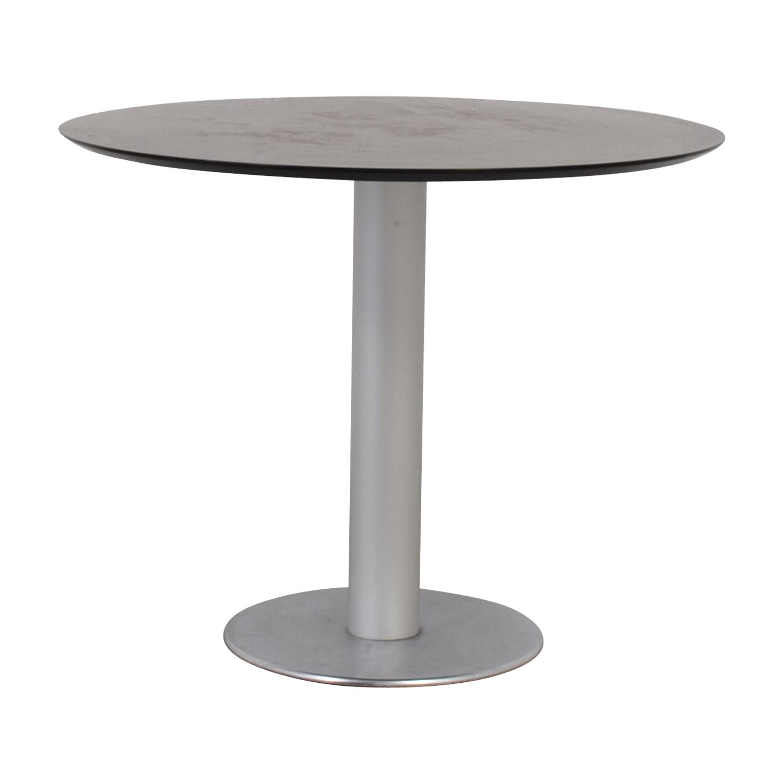 Stua Stua Zero Wood and Chrome Round Table for sale