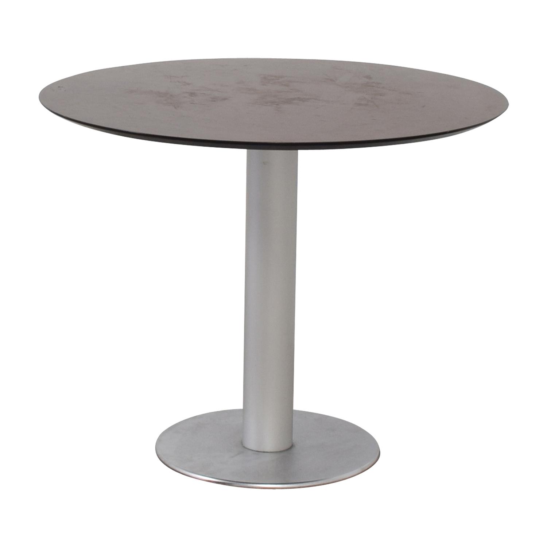 Stua Stua Zero Wood and Chrome Round Table dimensions