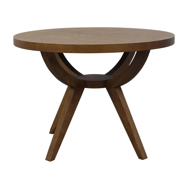 West Elm Arc Base Pedestal Table sale