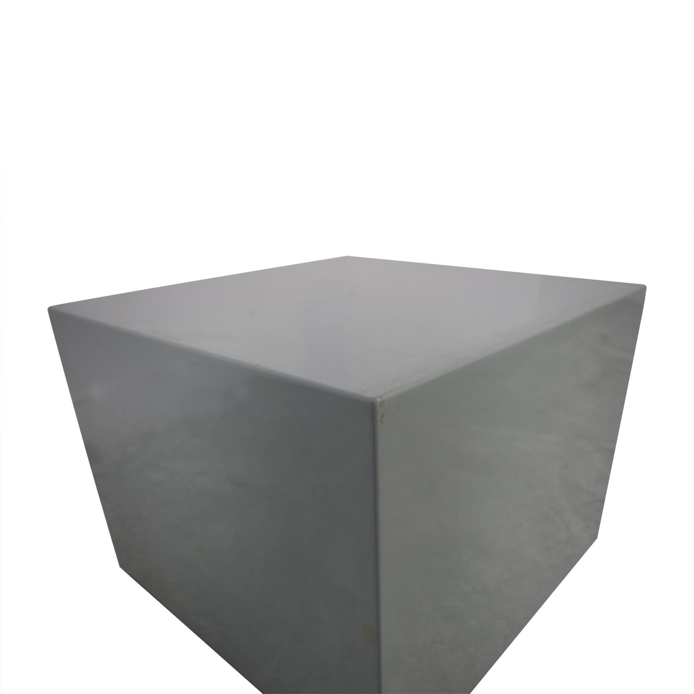 CB2 CB2 City Slicker Mint Green Side Table