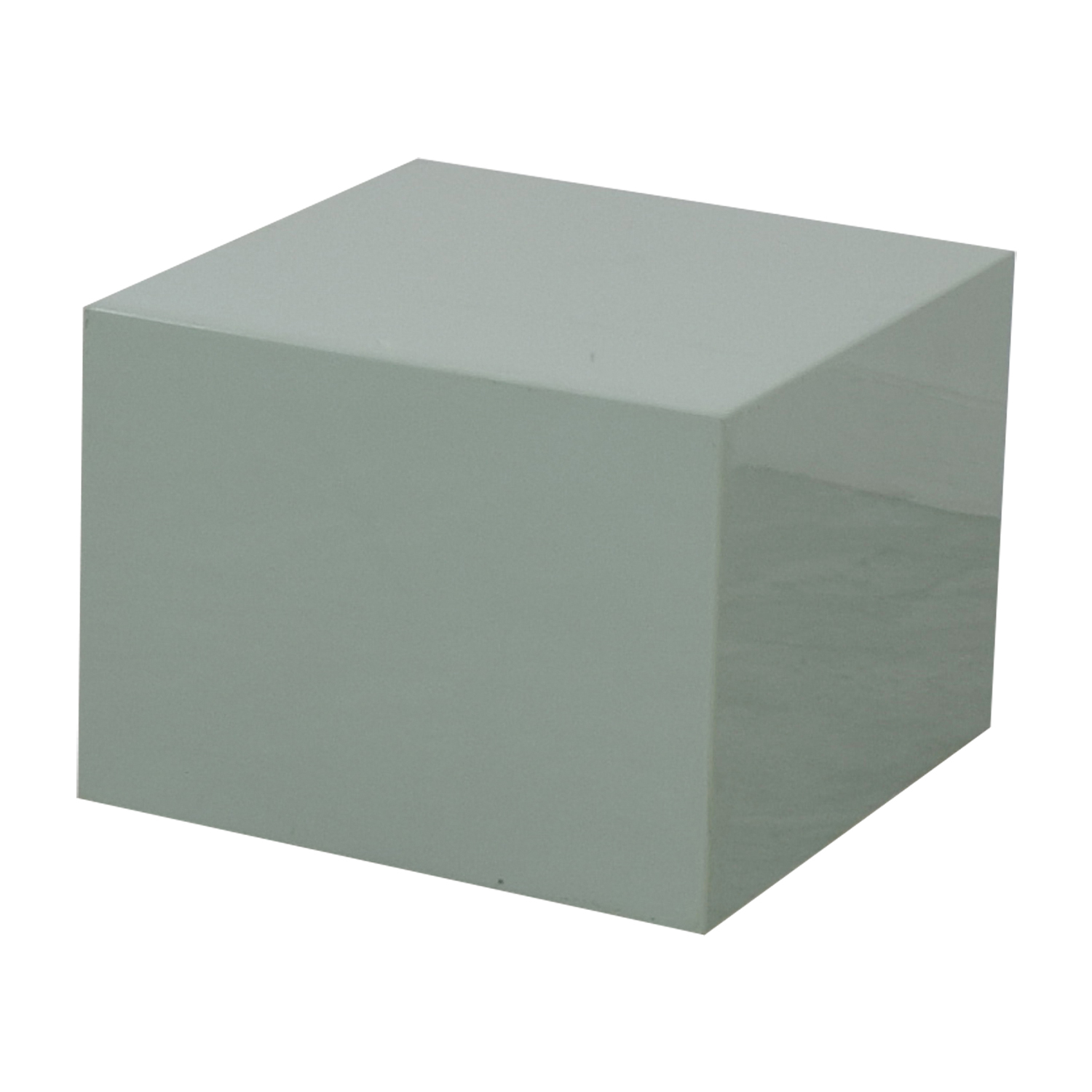 CB2 CB2 City Slicker Mint Green Side Table dimensions
