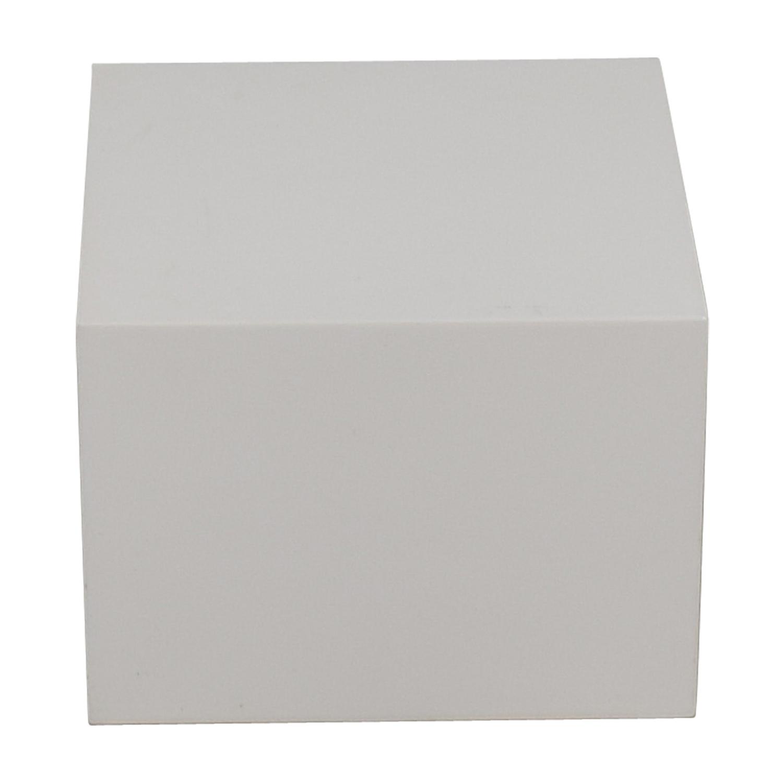 shop CB2 CB2 City Slicker White Side Table online