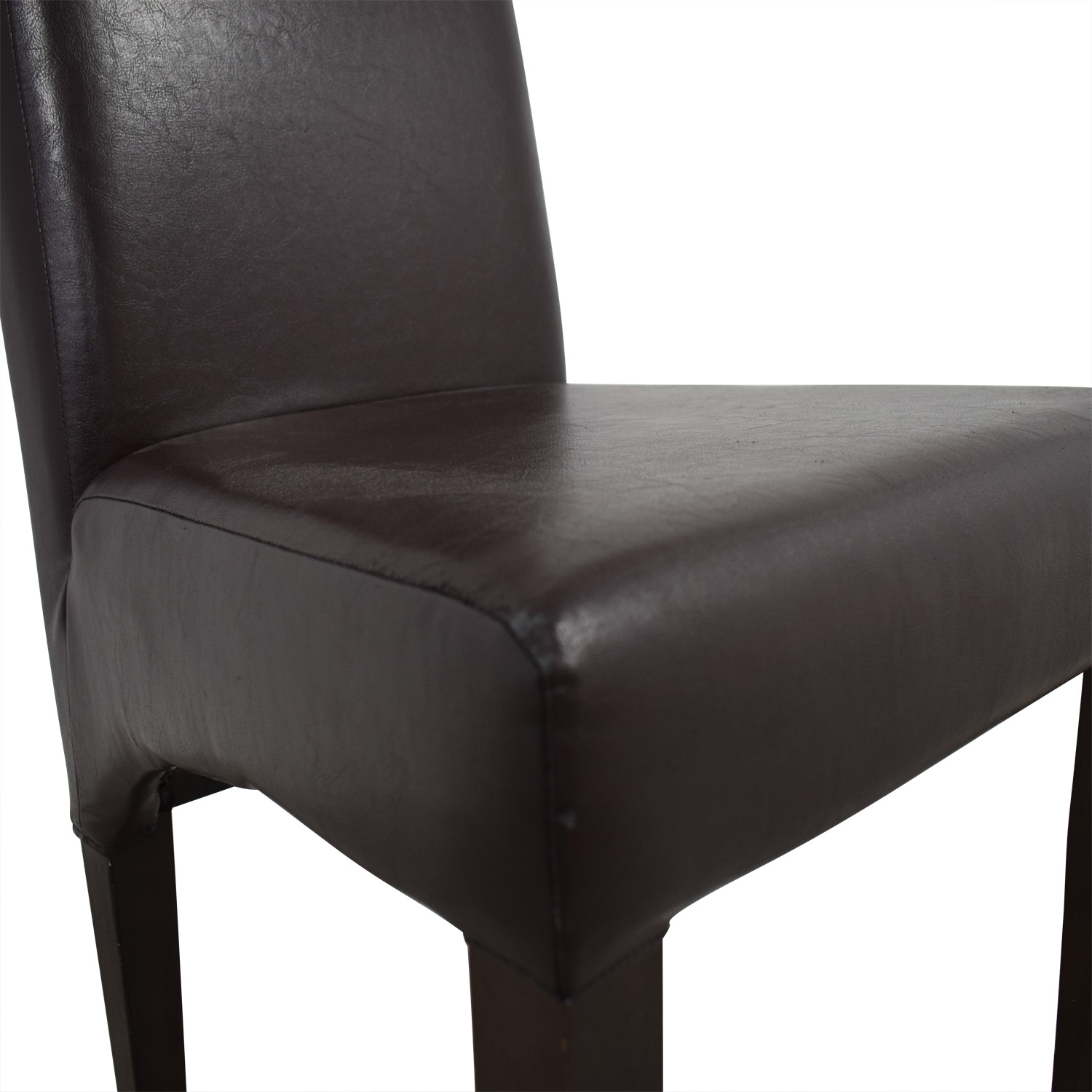 90% OFF - Pottery Barn Pottery Barn Brown Leather Dining Room Chair / Chairs