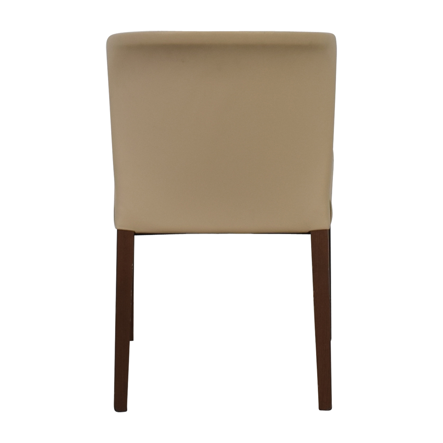 buy Crate & Barrel Beige Leather Chair Crate & Barrel