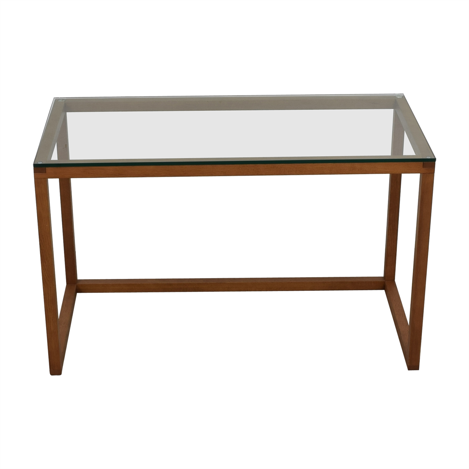 shop Crate & Barrel Glass and Wood  Desk Crate & Barrel