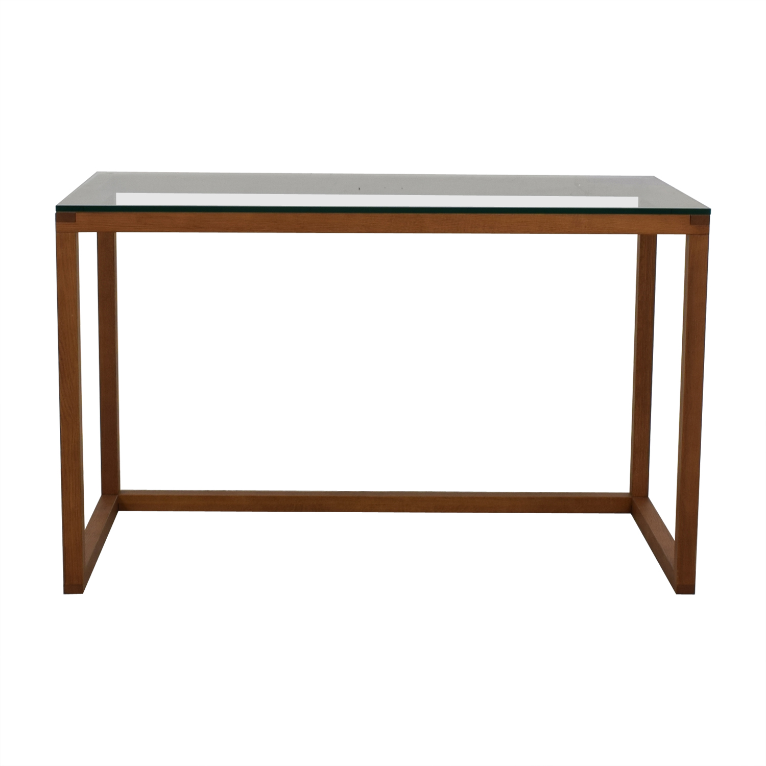 Crate & Barrel Crate & Barrel Glass and Wood  Desk second hand