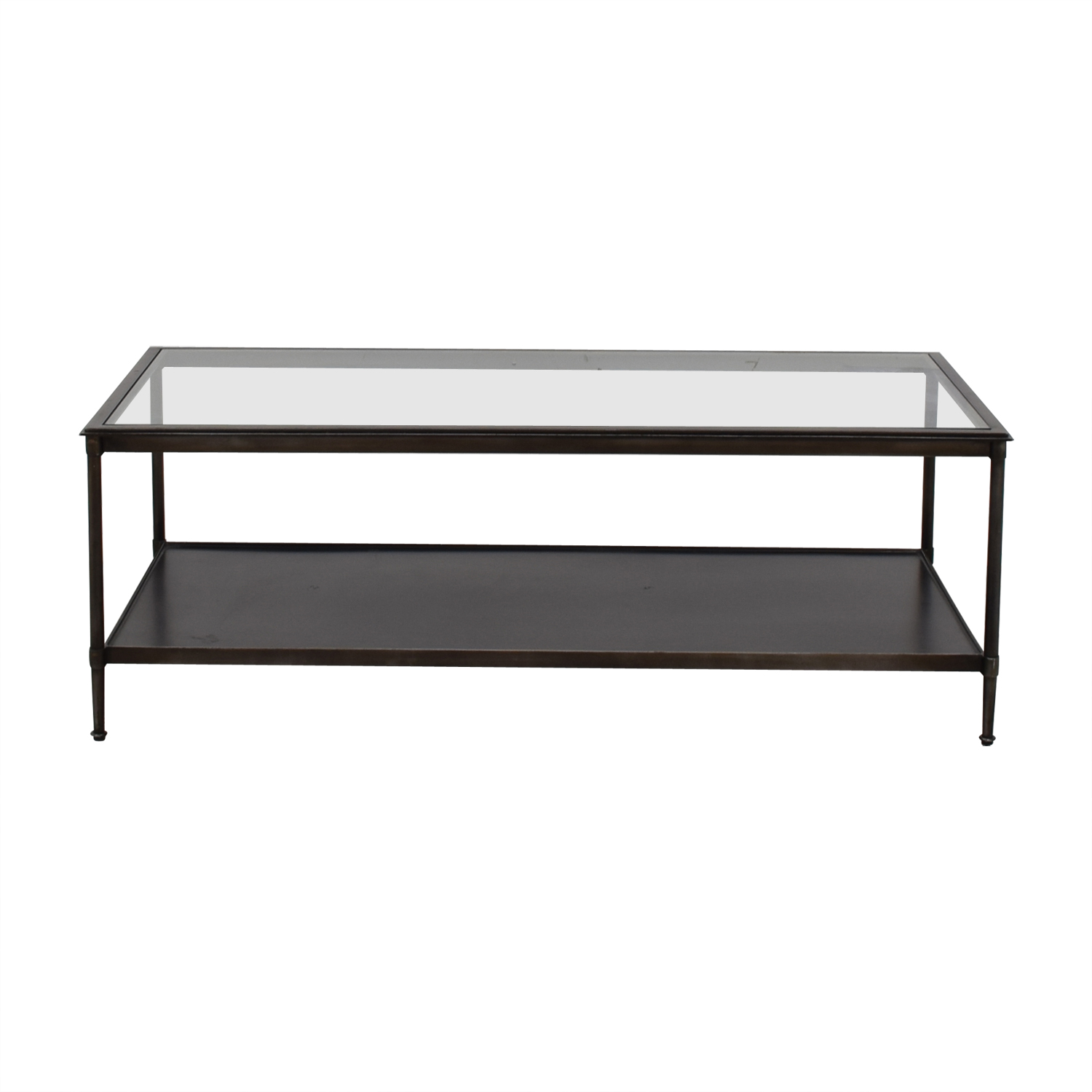 Crate & Barrel Crate & Barrel Glass Top Coffee Table