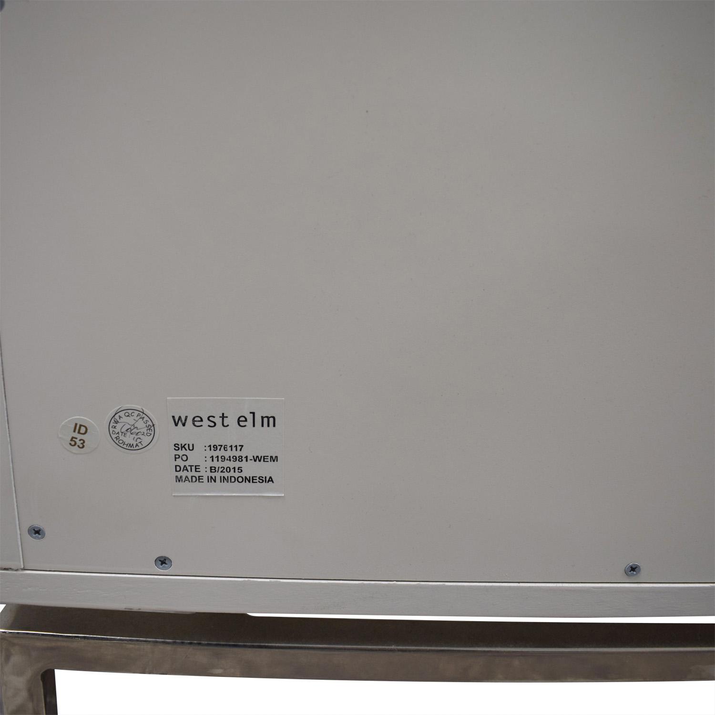 shop West Elm West Elm Malone Campaign White Lacquer Three-Drawer Dresser online