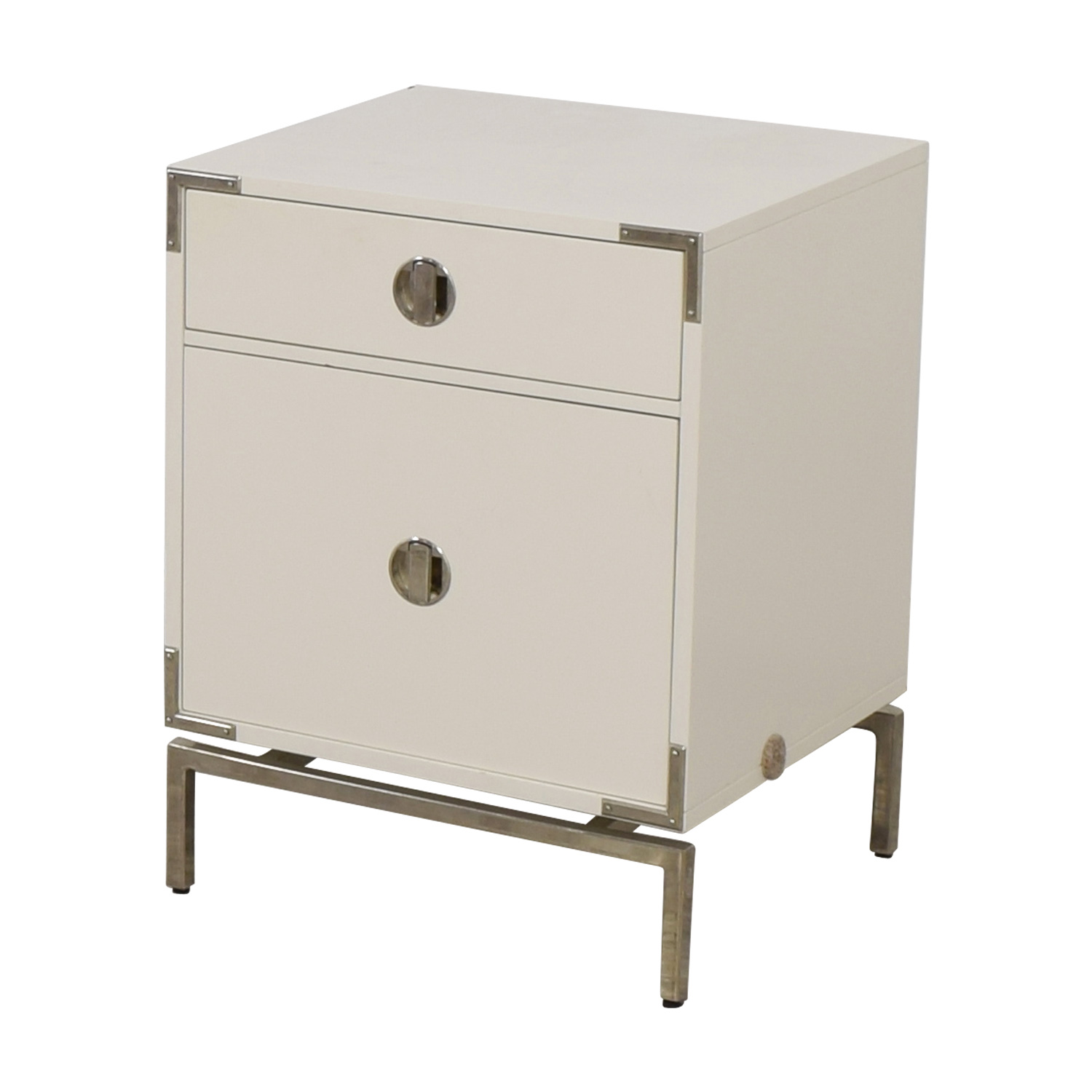 West Elm West Elm Malone White Campaign Store Nightstand for sale
