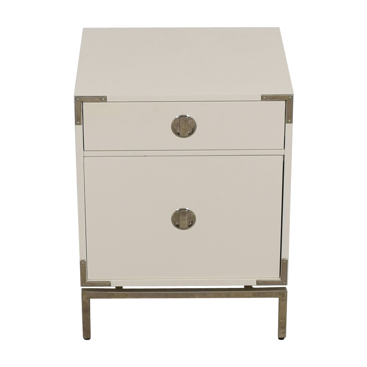 buy West Elm Malone White Campaign Store Nightstand West Elm Tables