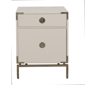 West Elm West Elm Malone White Campaign Store Nightstand second hand