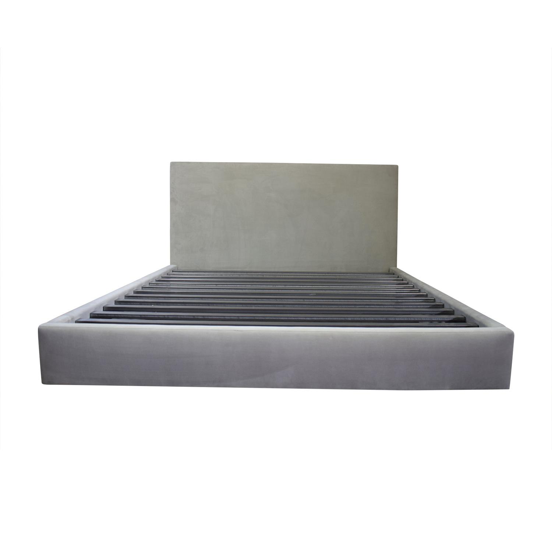 Room & Board Room & Board Grey Upholstered Platform King Bed Frame dimensions