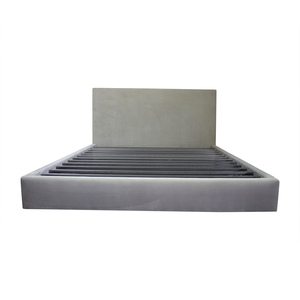 buy Room & Board Room & Board Grey Upholstered Platform King Bed Frame online