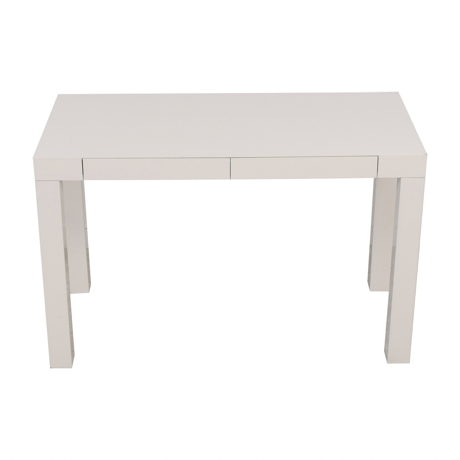 West Elm West Elm White Two-Drawer Desk