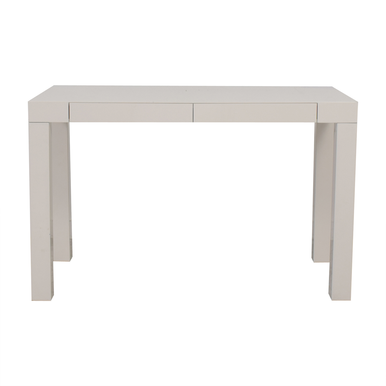 West Elm West Elm White Two-Drawer Desk / Tables