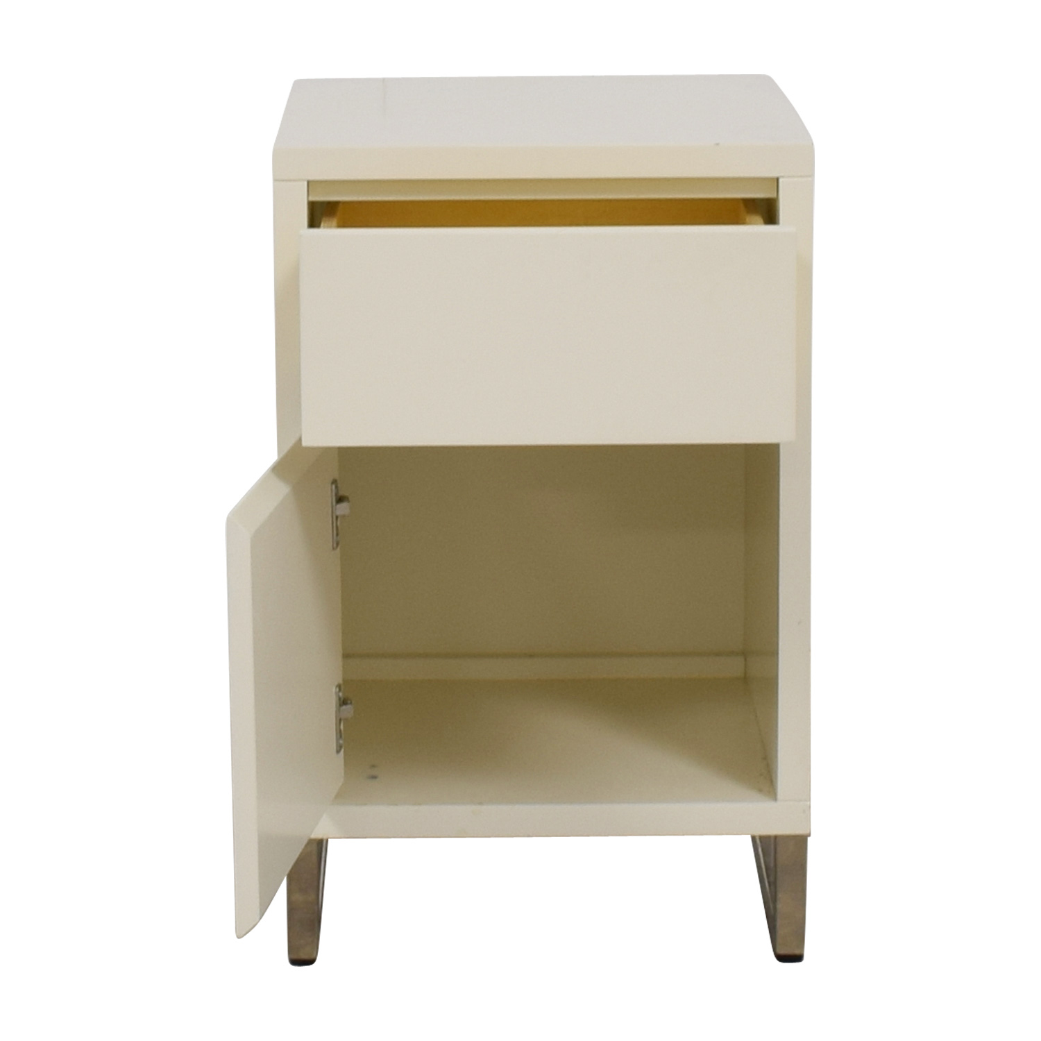 West Elm White Single Drawer Nightstand with Storage / Sofas