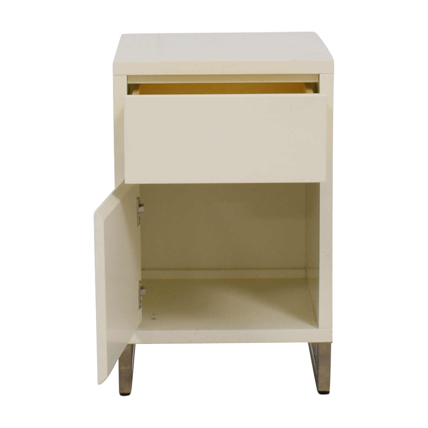 buy West Elm White Single Drawer with Storage Nightstand West Elm Sofas