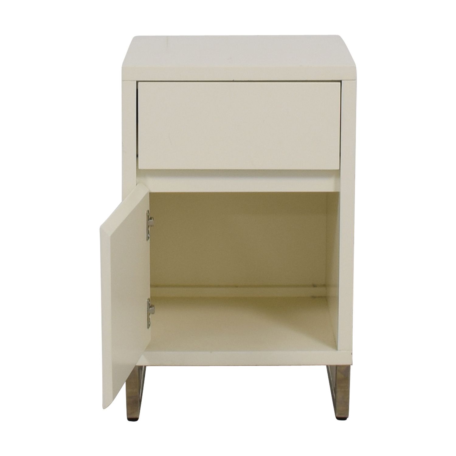 buy West Elm White Single Drawer Nightstand West Elm Sofas