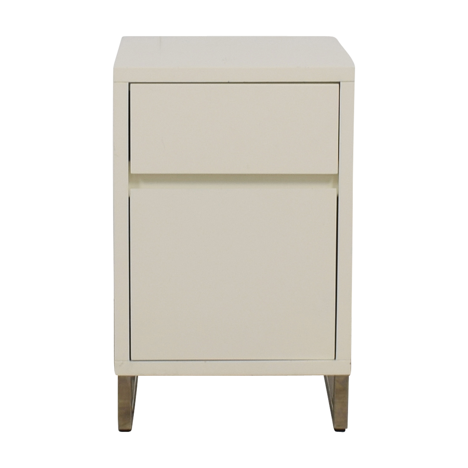 West Elm White Single Drawer Nightstand West Elm