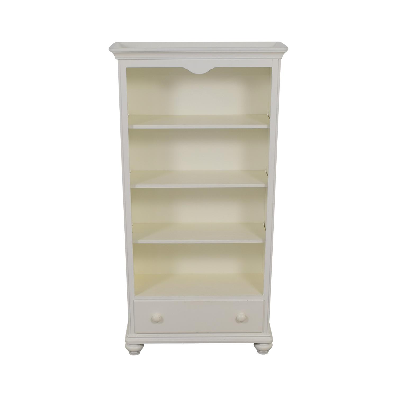 Regazzi Lepine Morigeaux White Single Drawer Bookshelf / Bookcases & Shelving