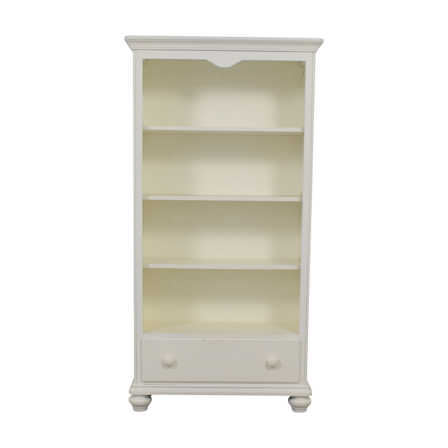 Regazzi Regazzi Lepine Morigeaux White Single Drawer Bookshelf used