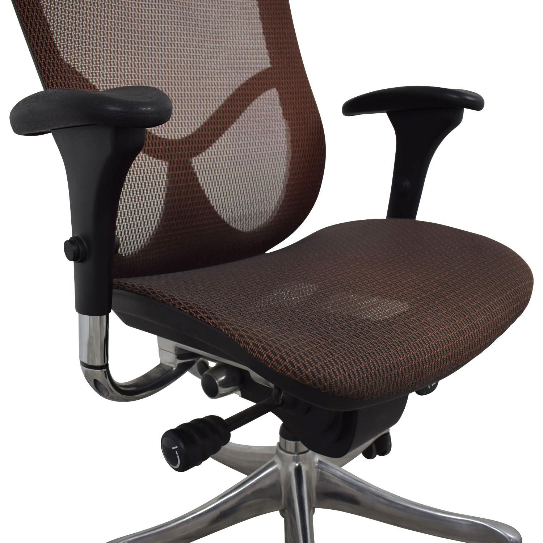 Astounding 87 Off Burgundy Office Chair Chairs Machost Co Dining Chair Design Ideas Machostcouk