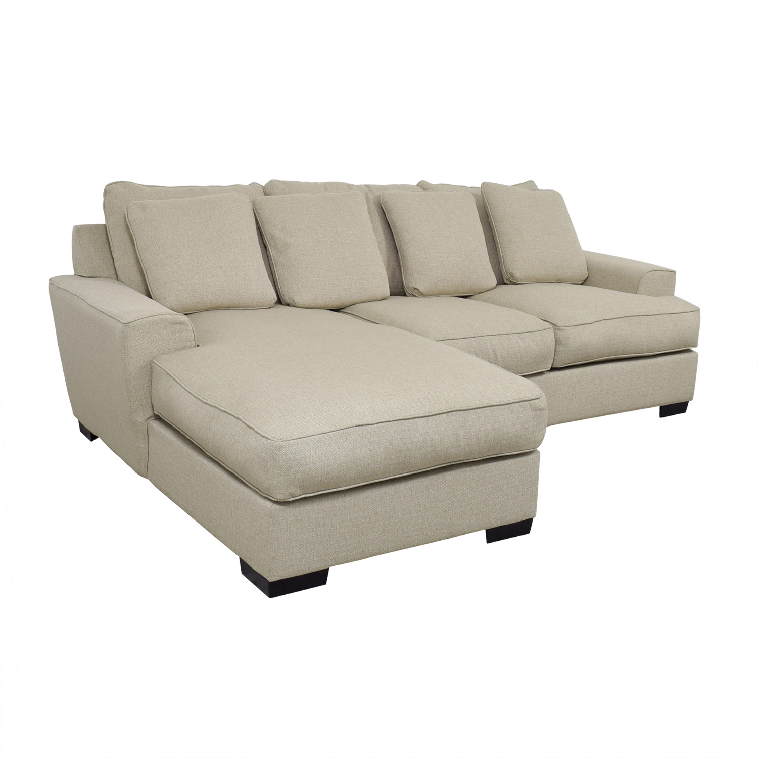 48 Off Macy S Macy S Ainsley Beige Chaise Sectional Sofas
