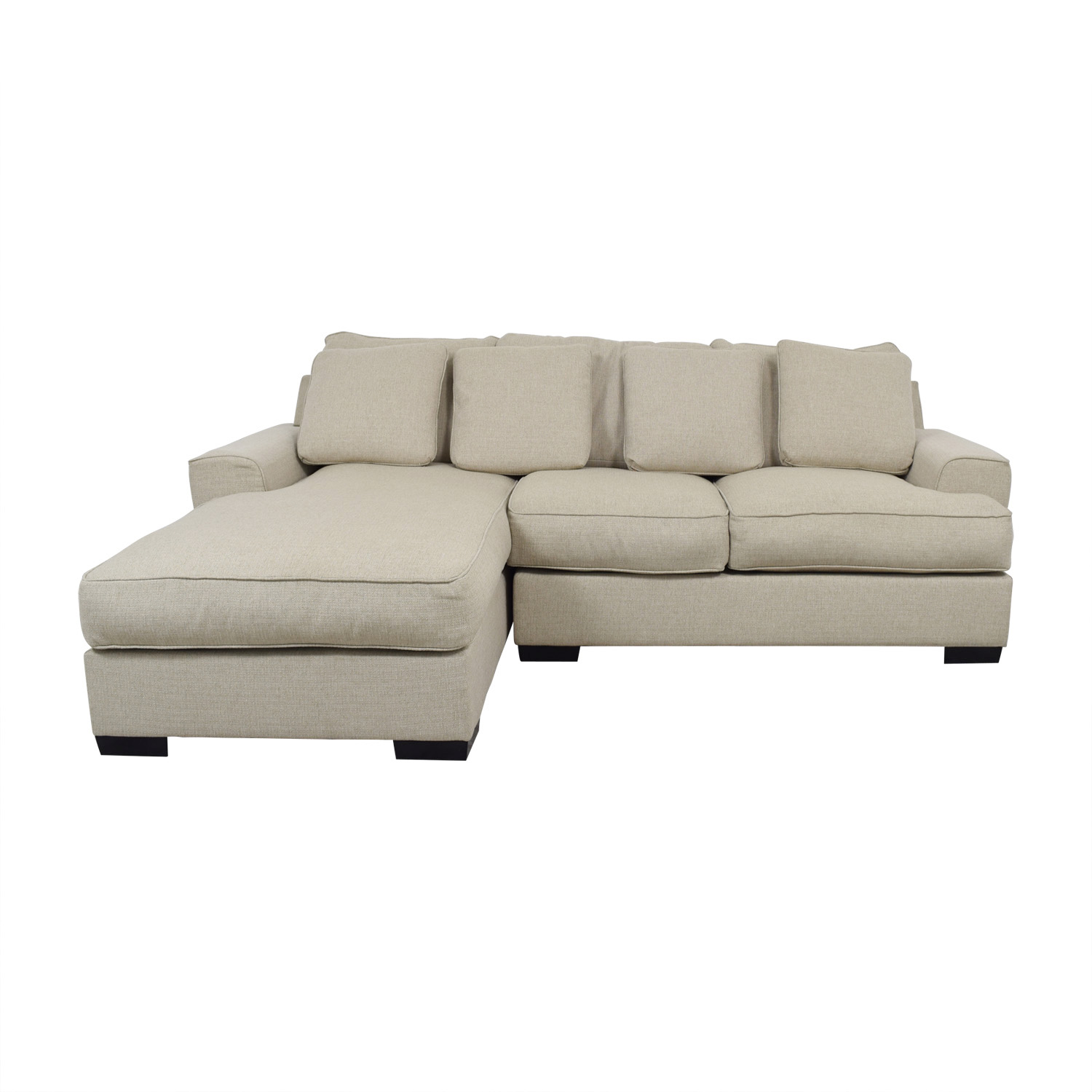 buy Macy's Ainsley Beige Chaise Sectional Macy's Sectionals