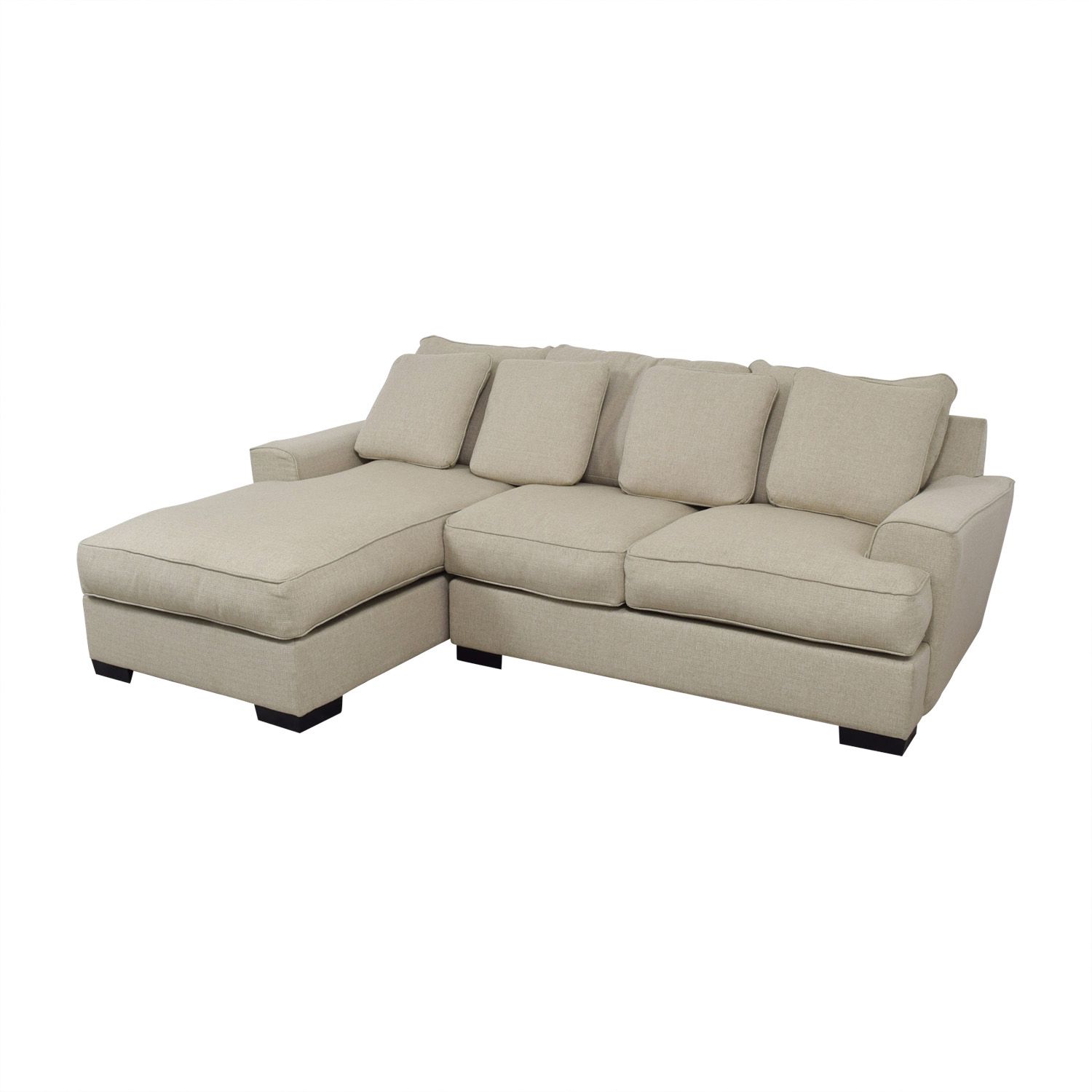 Sectional Sofas At Macys: Macy's Macy's Ainsley Beige Chaise Sectional / Sofas