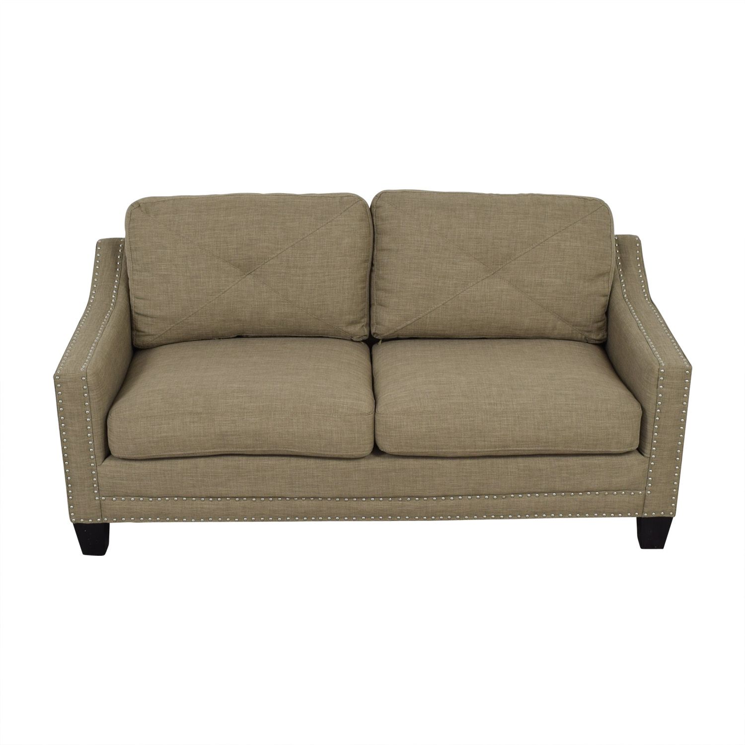 Bob's Furniture Bob's Furniture Tan Two-Cushion Couch second hand