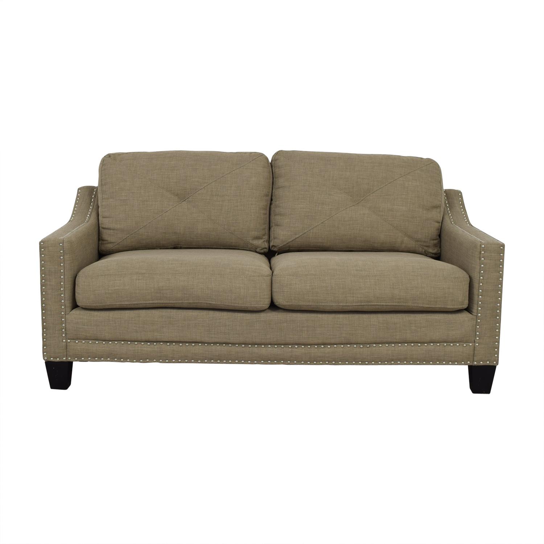 Bob's Furniture Bob's Furniture Tan Two-Cushion Couch nj