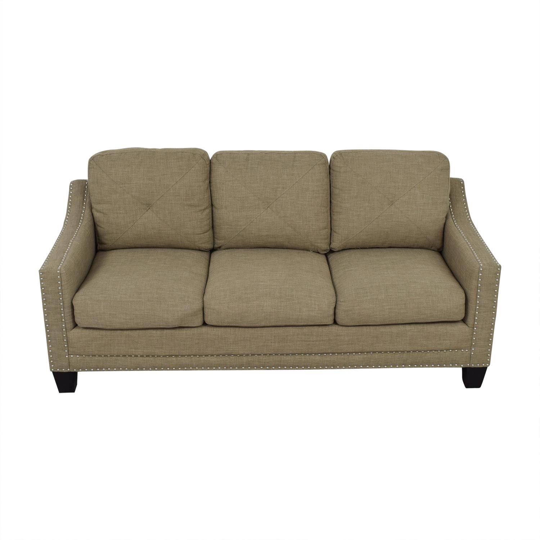 Bob's Furniture Bob's Furniture Tan Three-Cushion Couch nyc