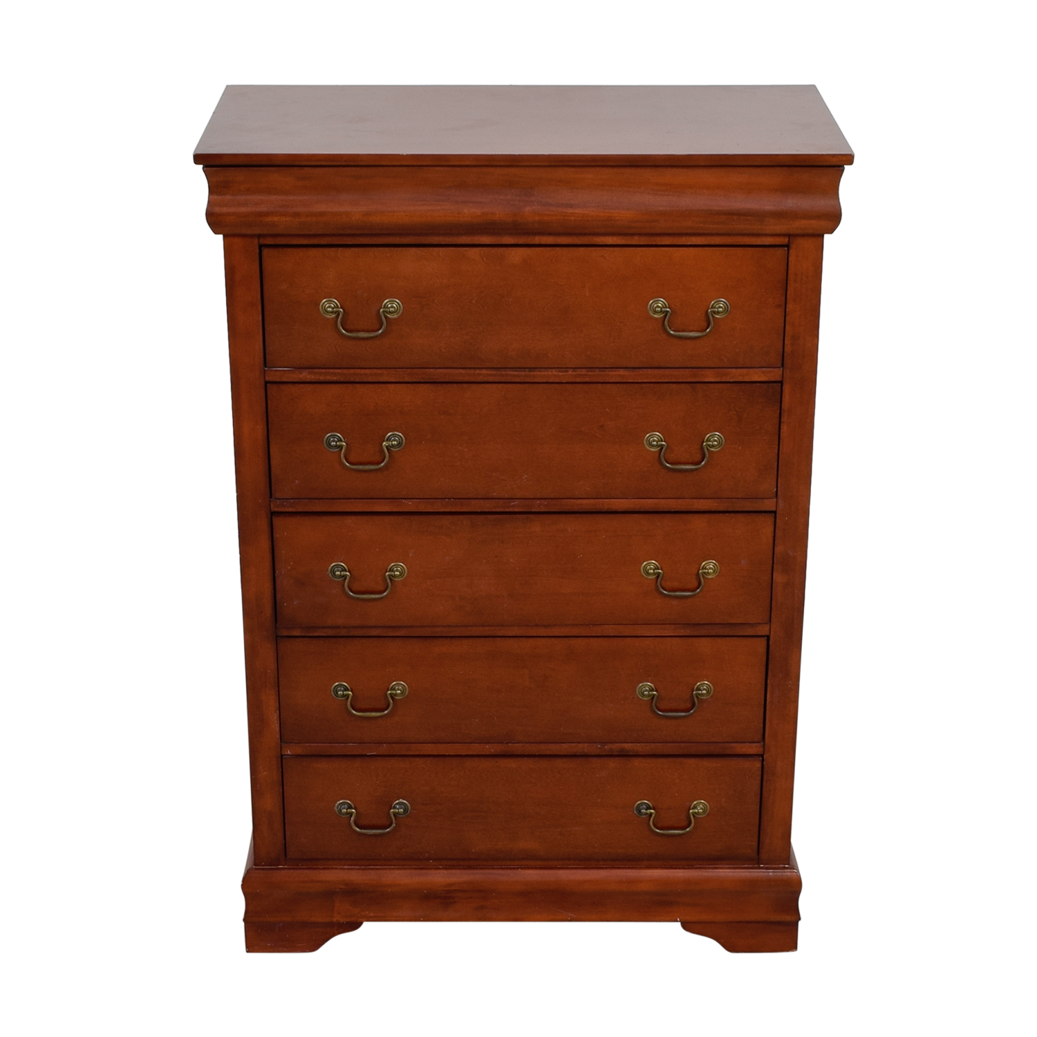 shop Raymour & Flanigan Wood Five-Drawer Dresser Raymour & Flanigan Dressers
