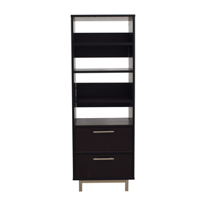 shop Crate & Barrel Wood Bookcase Crate & Barrel