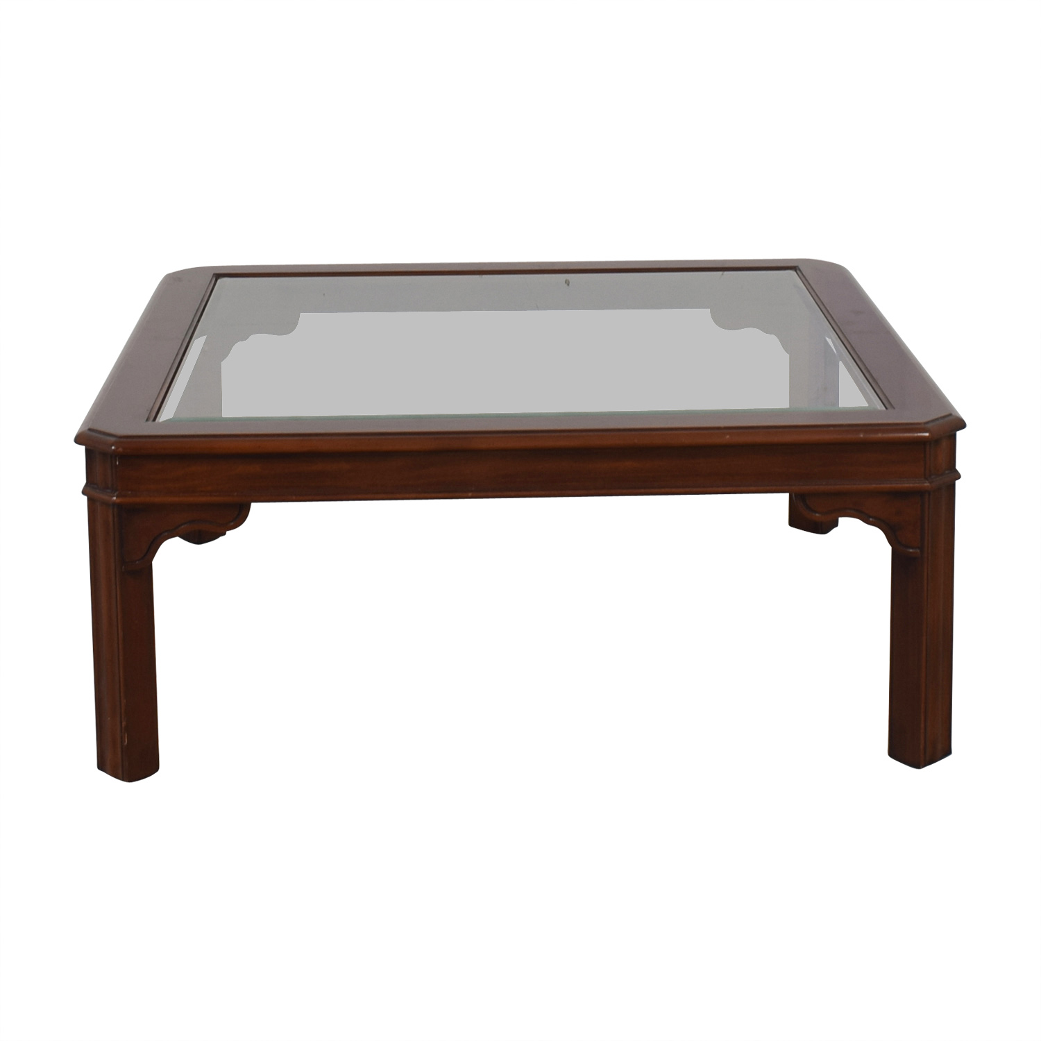 Glass Top and Wood Coffee Table coupon