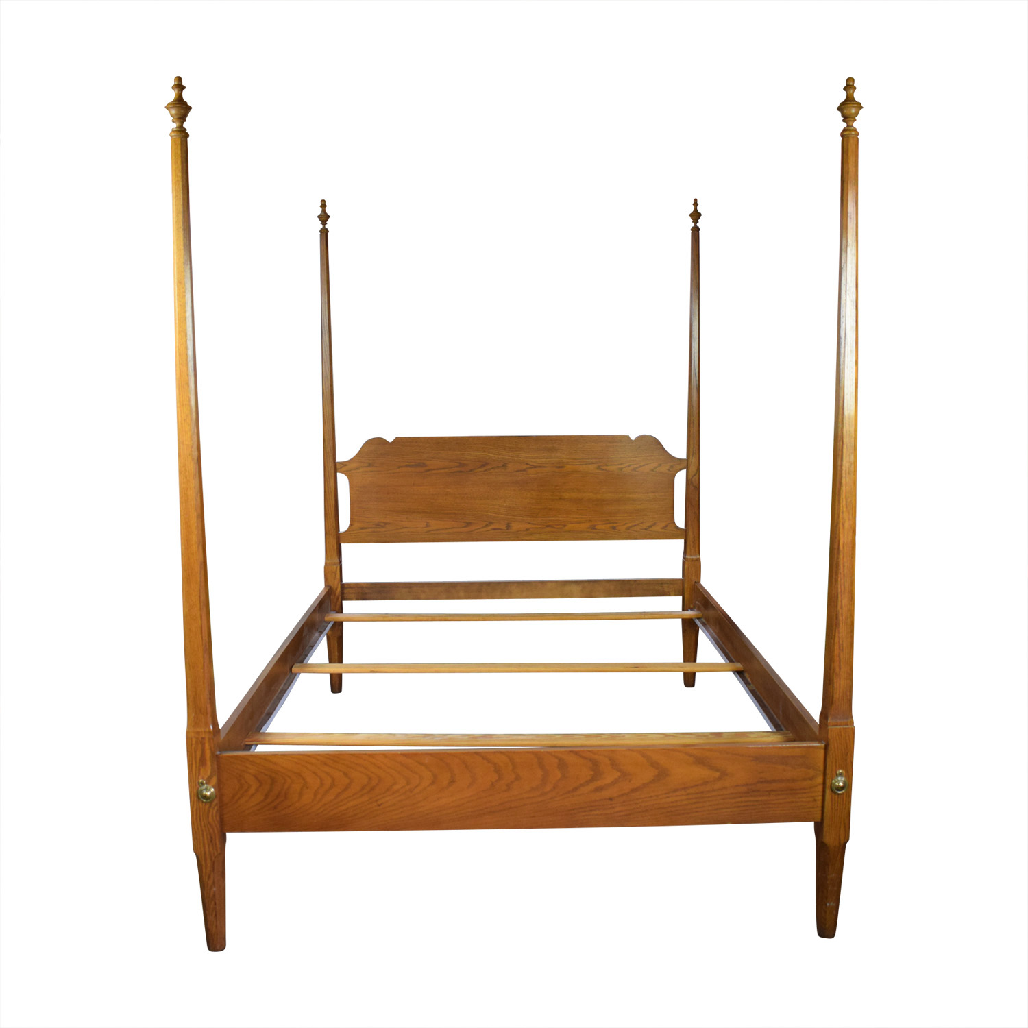 Four Poster Wood Queen Bed Frame for sale
