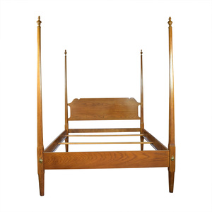 Four Poster Wood Queen Bed Frame sale