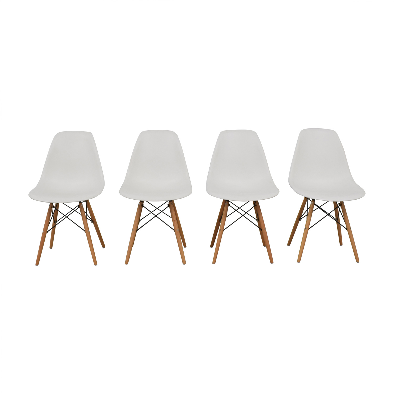buy Rove Concept Eames Replica Dowel Leg White Molded Dining Chairs Rove Concept Dining Chairs