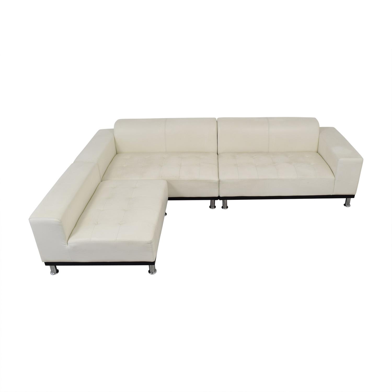buy Modani Modani White Leather Sectional online