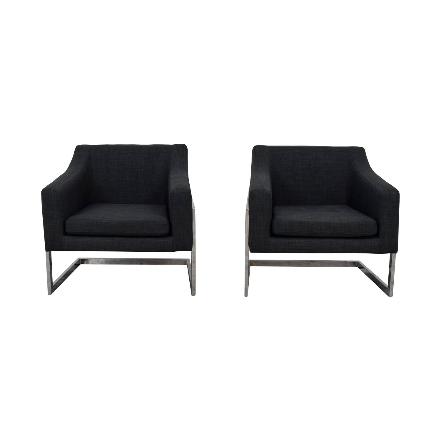 shop Coaster Zachary  Charcoal Accent Armchairs Coaster Sofas