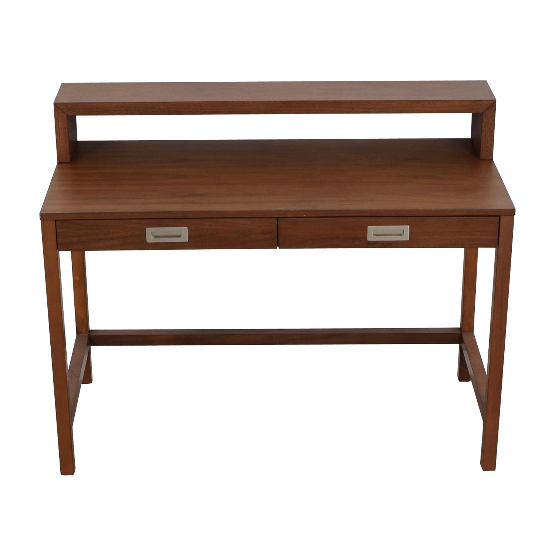 Crate & Barrel Crate & Barrel Aspect Walnut Modular Desk with Hutch on sale